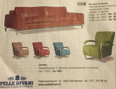 Design Stoelen Alkmaar.Mooie Bank En Stoel Stoelen Kleuren Bank