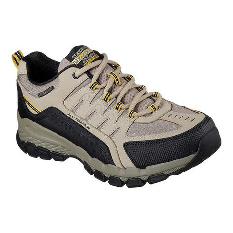 Men s Skechers Relaxed Fit Outland 2.0 Rip-Staver Trail Shoe - Taupe Black  Walking Shoes 3da945cb30
