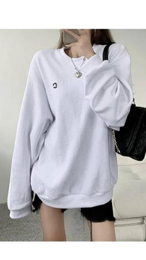 Long sleeve sweater round neck top