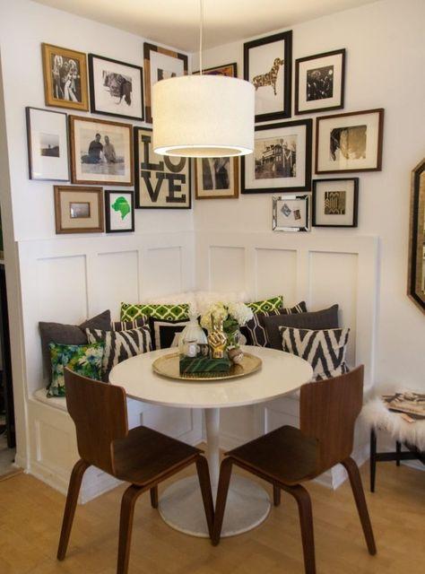 gemütliche Sitzecke in der Küche wie in einem Café gestalten #sitzecke #gemuetlichkeit