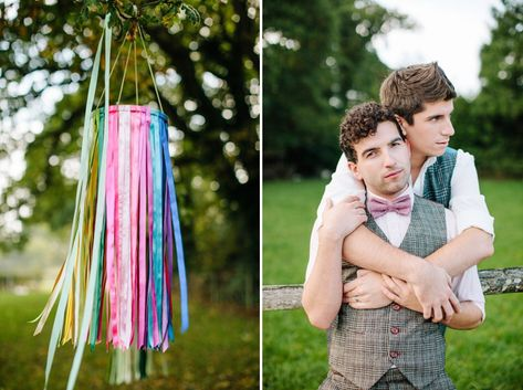 Gay wedding inspiration, Autumn wedding, outdoor wedding, wedding picnic, Styling by wedding planner Matthew Oliver, Photography by Hayley S...