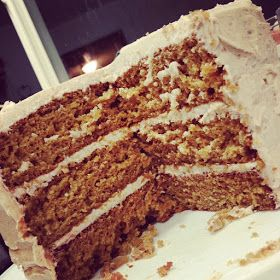 Schnitzel & Boo: Recipe: Caramel Apple Layer Cake with Apple Cider Frosting