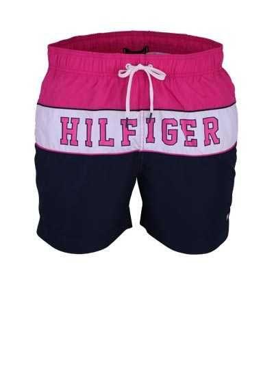 Tommy Hilfiger Badeshorts Gummibund Tunnelzug Logo Pink In 2020 Tommy Hilfiger Herrenunterwasche Tunnelzug