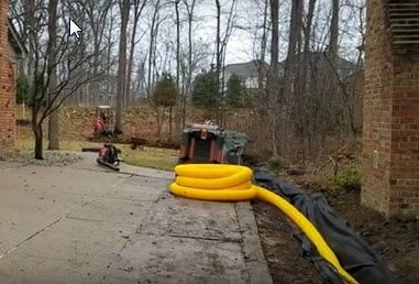 How To Build The Best Drainage System For Extreme Water Conditions French Drain Systems Curtain Drains Macomb Oakland Lapeer St Clair County French Drain System French Drain French Drain Installation