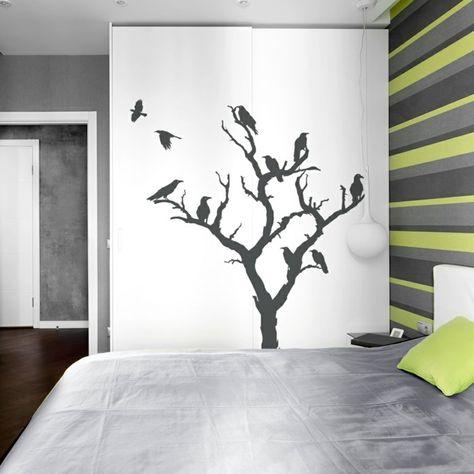 schöne wandtattoos baum wohnideen schlafzimmer Wandgestaltung - wohnideen fr schlafzimmer mit wandtattoo