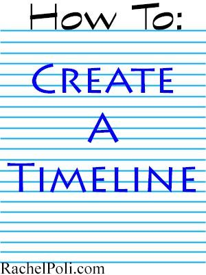 How To Create a Timeline for Your Novel - Rachel Poli