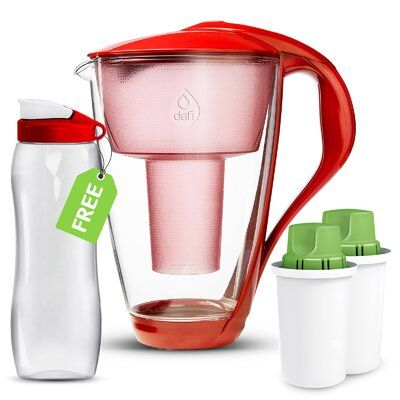 Dafi Alkaline Crystal Water Filtration Pitcher Colour Red In 2020