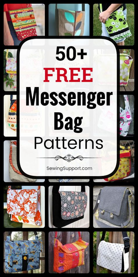 Free Messenger Bag Patterns Messenger Bag Patterns to sew. Free Messenger Bag patterns, diy sewing projects, and tutorials. Kids and adult styles, large and small bags. Instruction for how to make messenger bags. Bag Pattern Free, Bag Patterns To Sew, Sewing Patterns Free, Free Sewing, Dress Patterns, Diy Sewing Projects, Sewing Projects For Beginners, Sewing Hacks, Sewing Tutorials