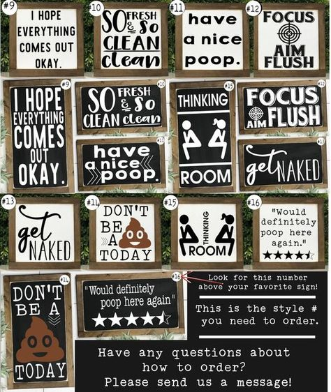 Funny Bathroom Signs Bathroom Wall Decor Kids Bathroom | Etsy