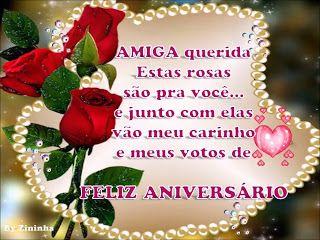 Mensagem De Aniversario Para Amiga Com Flores Vermelhas Mensagem
