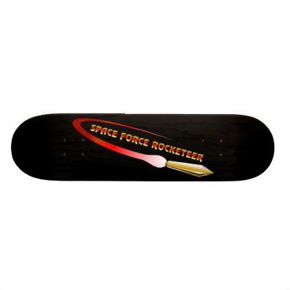 Space Force Rocketeer Skateboard Customize Diy Skateboard Force Space