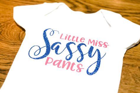 Cerise Little Miss Sassy Pants Statement Baby Grow Vest 4-5 Years