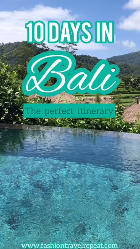 The ultimate 10 day itinerary in Bali for a romantic honeymoon. This Bali itinerary and travel guide includes the perfect mix of luxury resorts, spas and sightseeing. #bali #balihoneymoon #baliitinerary #balitravel