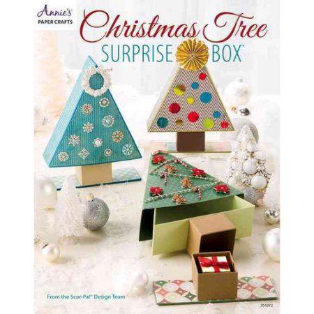 Christmas Tree Surprise Box Walmart Com In 2020 Christmas Paper Crafts Christmas Paper Christmas Tree Box