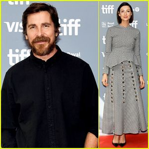 Christian Bale Caitriona Balfe Continue Ford V Ferrari Press