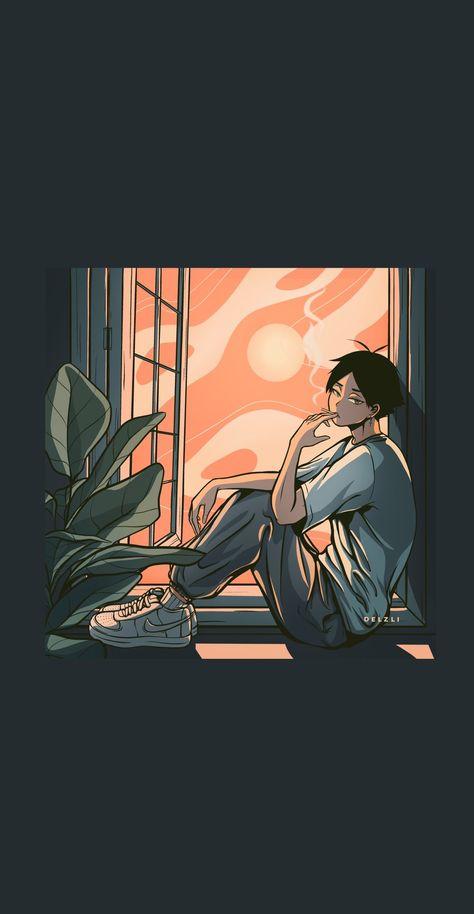 "debdebdie on Twitter: ""🍃 sesh with sunarin… "" Haikyuu Manga, Haikyuu Fanart, Manga Anime, Anime Art, Haikyuu Wallpaper, Cute Anime Wallpaper, Arte 8 Bits, Anime Bebe, Tableau Pop Art"