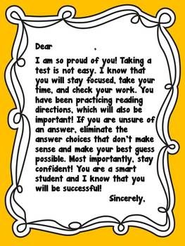 Encouraging Notes For Standardized Tests Words