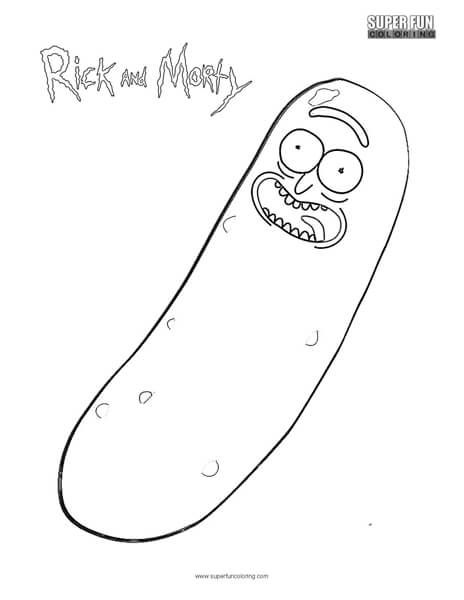 Pickle Rick Rick And Morty Coloring Page Super Fun Coloring Rick And Morty Stickers Rick And Morty Unique Coloring Pages