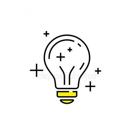 Lightbulb Icon Light Bulb Innovation Sign Electric Lamp Symbol Line Sto Ad Bulb Innovation Light Bulb Icon Light Bulb Illustration Light Bulb Vector