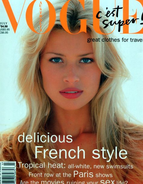Vogue Deutsch February by Lothar Schmid. Vogue Australia and Vogue Deutsch September Photographed by Paul Lange for Vogue Australia October On the cover of Vogue España February…