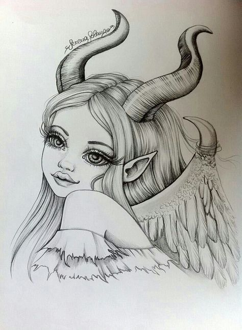 Maleficent by Serena Solange  Absolutely gorgeous. Hipster drawings Hipster-draw...