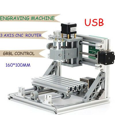 Ebay Sponsored Usb Cnc 1610 3axis Pcb Milling Wood Router Laser Engraving Machine Grbl Control Cnc Router Cnc Engraving Machine Diy Cnc Router