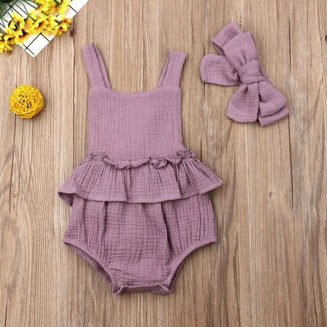 Baby Girls Bodysuit Outfit Set Summer Clothes