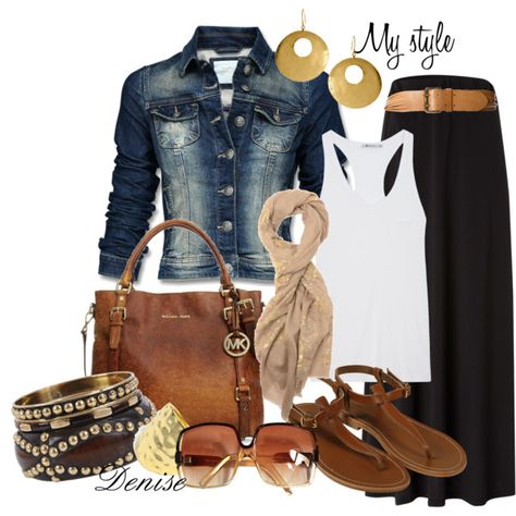 Maxi Skirt and Jean Jacket