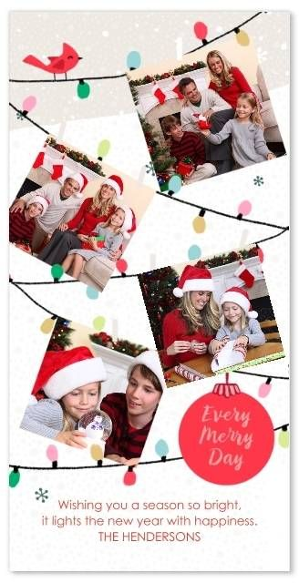 Set Of 20 Flat Photo Cards 4x8 Paper Cards Holiday Photo Cards