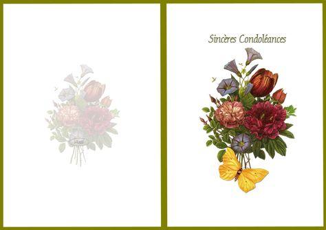 carte de condoleances simple a imprimer gratuitement Résultat de recherche d'images pour