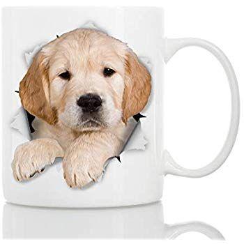 Golden Retriever Puppy Dog Mug Ceramic 11oz Funny Coffee Mug
