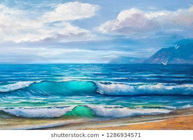 Original Oil Painting Sea Beach On Stock Illustration 1108518152 Shutterstock Imagenes Para Pintar Fotos Pinturas