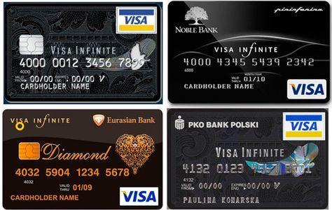 Visa Infinite Credit Card Credit Card Design Credit Card