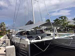 Forward Awning For Multihull Nautitech 54 In 2020 Catamaran Yacht Sailing Awning