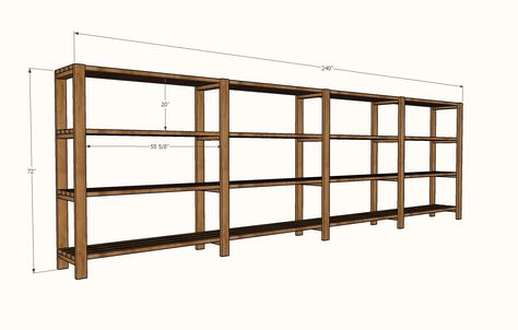 Diy Garage Shelves Freestanding