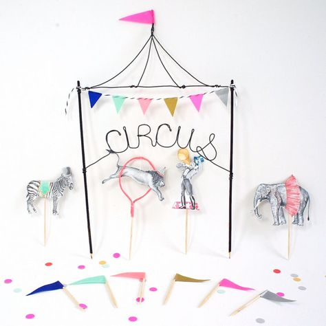 Circus Cake Toppers - wonderful