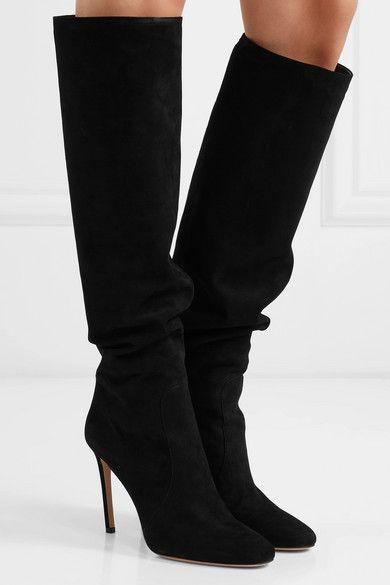 Prada | 100 suede knee boots | NET-A