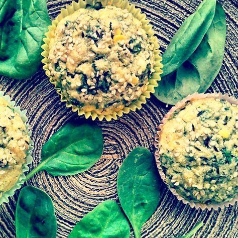 Corn Spinach Muffins