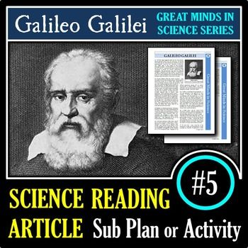 Galileo Galilei - Science Article/Sub Plan #5 | Printable & Distance Learning
