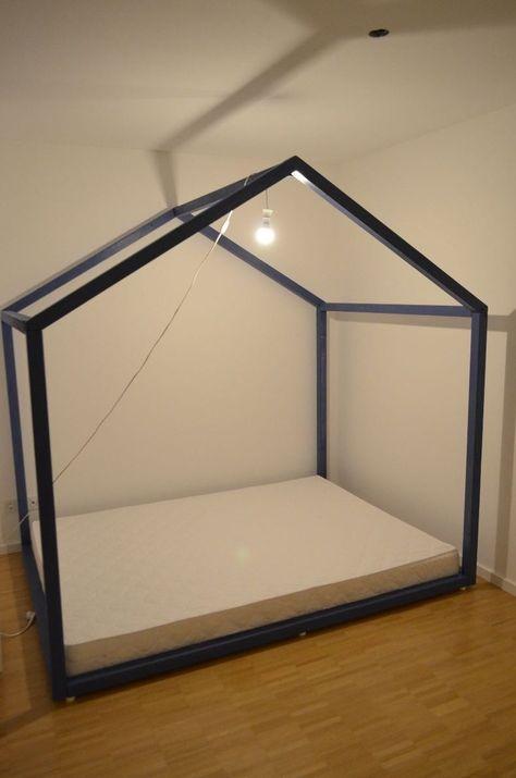 Kinderbett junge selber bauen  Kinderbett selber bauen: XXL-Hausbett Bauanleitung   DIY ...
