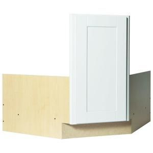 Hampton Bay Shaker Partially Assembled 36 X 34 5 X 24 In Corner Sink Base Kitchen Cabinet In Satin White Kcsb36 Ssw The Home Depot Shaker Kitchen Design Corner Sink How To Install Countertops