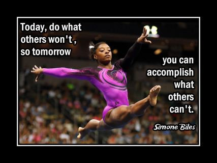 Simone Biles 'Do What Others Can't' Gymnastics Quote Poster, Motivational  Wall Art Gift - ArleyArt.com | Inspirational gymnastics quotes, Gymnastics  quotes, Simone biles