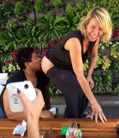 For Her 39th Birthday Chelsea Handler Sat On Her Birthday Cake To Show What She Thinks Of Gluten Free Cakes And Let A Lesbian Lick It Off
