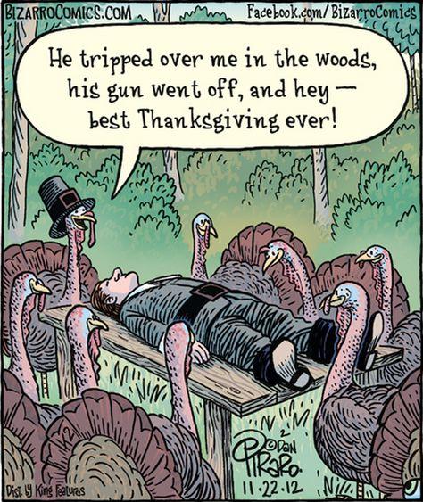 best Thanksgiving ever! | Bizarro Comics (2012-11-22)