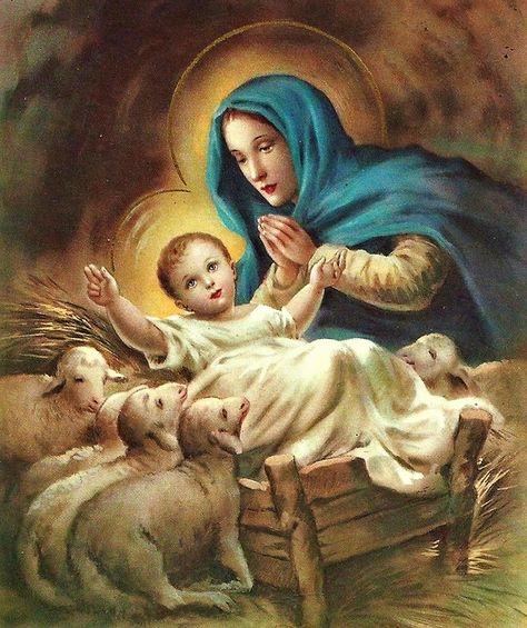 7ccab72b292f4 Jésus Enfant et la Vierge Marie
