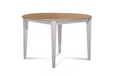 Table Ronde Bois A Rallonges 115 Cm Pieds Fuseau Victoria Table Ronde Extensible Table Extensible Table Ronde Bois