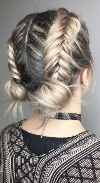 34 Space Buns You Can Easily Copy How To Make Space Buns Tutorial With Hairstyle In 2020 Braids For Short Hair Thick Hair Styles Hair Styles