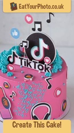 Tiktok Cake Toppers In 2021 Edible Photo Cake Topper Cake Photo Cake Topper