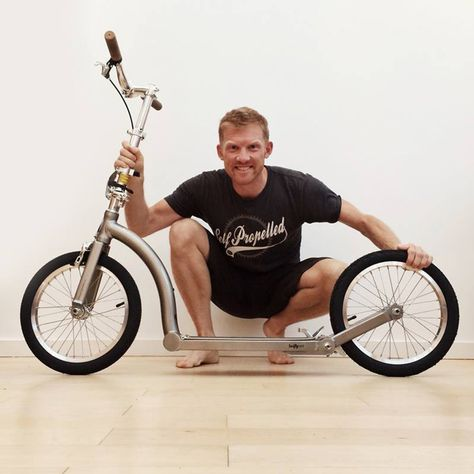 Dave Cornthwaite, adventurer, with his SwiftyONE! www.swiftyscooters.com