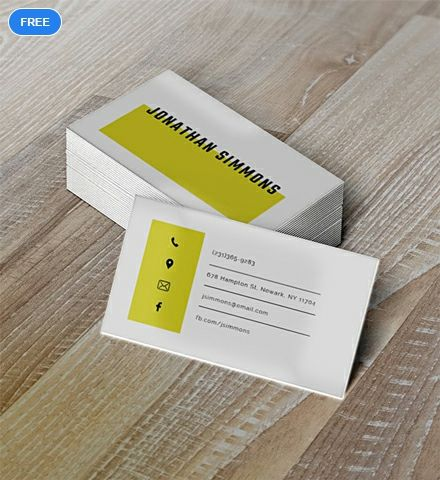 Free Simple Business Card Template Business Cards Layout Free